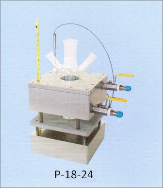 加熱・冷却用アルミブロック(フラスコ用)